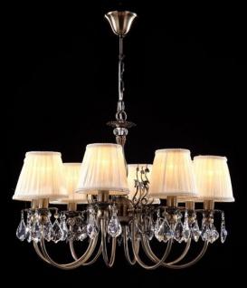 Casa Padrino Barock Decken Kronleuchter Kristall Bronze 66 x H 48 cm Antik Stil - Möbel Lüster Leuchter Hängeleuchte Hängelampe