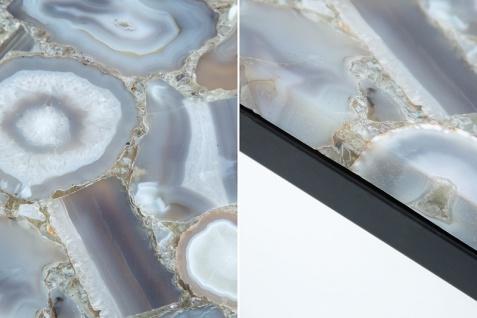 Casa Padrino Designer Beistelltisch mit Onyx 30 x 30 x H.50cm Mehrfarbig - Unikat - Vorschau 5