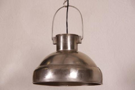 Casa Padrino Hängeleuchte Deckenleuchte Antik Stil vernickelt Industrial Vintage Design 33cm Durchmesser - Industrie Lampe Hänge Leuchte
