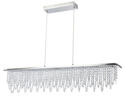 Casa Padrino Kristall LED-Hängeleuchte Silber 105 x H. 22 cm - Wohnzimmer Leuchte