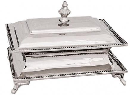 Casa Padrino Schmuckkasten Silber 15 x 10 x H. 11 cm - Luxus Schmuckbox