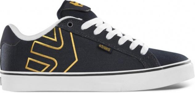 Etnies Skateboard Schuhe Fader Vulc Navy/White/Yellow Etnies Shoes Beliebte Schuhe
