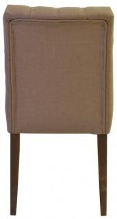 Casa Padrino Designer Esszimmer Stuhl Model EF 283 Khaki / Braun - Hoteleinrichtung - Buchenholz - Chesterfield Design - Vorschau 4