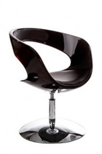 Casa Padrino Designer Stuhl Schwarz, drehbar - Moderner Stuhl - Vorschau 2