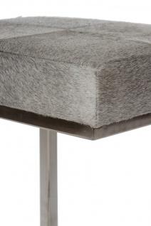 Casa Padrino Luxus Kunstfell Hocker in Patchwork Optik Grau / Silber 45 x 33 x H. 40 cm - Luxus Möbel - Vorschau 4