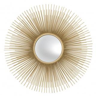 Casa Padrino Luxus Wohnzimmer Spiegel Gold - Designer Wandspiegel