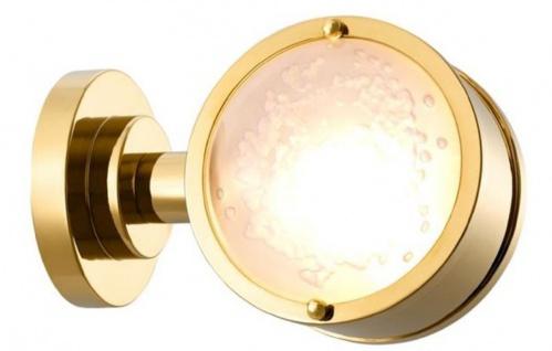 Casa Padrino Luxus Wandleuchte Gold / Weiß 12, 5 x 18, 5 x H. 12, 5 cm - Luxus Kollektion