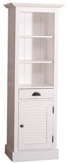 Casa Padrino Landhausstil Badezimmerschrank mit Tür und Schublade Weiß 54 x 41 x H. 160 cm - Badezimmermöbel im Landhausstil - Vorschau 3