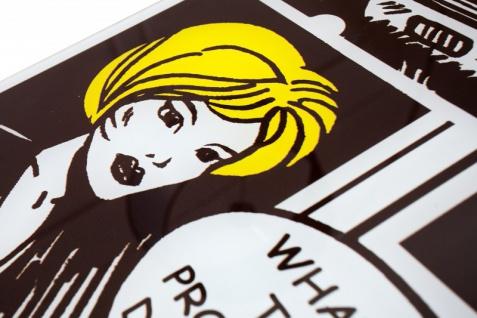 Casa Padrino Designer Beistelltisch Mehrfarbig B. 105 cm H. 33 cm - Comic Design - Vorschau 4