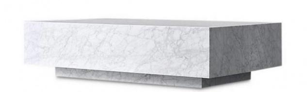 Casa Padrino Luxus Couchtisch Weiß 100 x 100 x H. 35 cm - Quadratischer Wohnzimmertisch aus Carrara Marmor - Marmortisch - Luxus Qualität