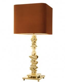Casa Padrino Luxus Tischleuchte 35 x H. 82 cm - Designer Tischlampe