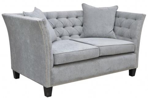 Casa Padrino Luxus Chesterfield Samt Sofa mit Kissen 174, 5 x 91 x H. 86 cm - Verschiedene Farben - Wohnzimmer Möbel - Chesterfield Möbel - Vorschau 2