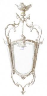 Casa Padrino Barock Hängeleuchte Silber Deckenlaterne - Restaurant - Hotel Lampe Leuchte Laterne