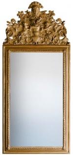 Casa Padrino Barock Spiegel Gold 93 x H. 207 cm - Prunkvoller handgefertigter Wandspiegel mit wunderschönen Verzierungen