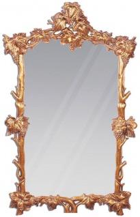 Casa Padrino Luxus Barock Spiegel Kupferfarben / Gold 100 x 8 x H. 160 cm - Prunkvoller handgeschnitzter Mahagoni Wandspiegel im Barockstil - Garderoben Spiegel - Wohnzimmer Spiegel - Barock Möbel