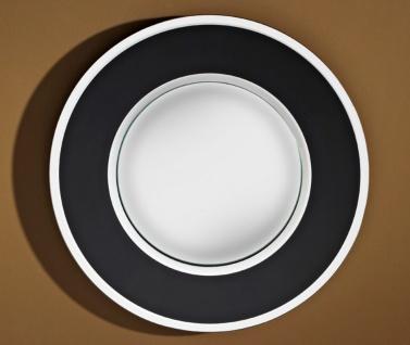 Casa Padrino Luxus Konvex Spiegel Schwarz Ø 41 cm - Designermöbel & Accessoires