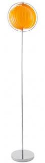 Casa Padrino Stehleuchte Silber / Orange Ø 31 x H. 160 cm - Designer Lampe