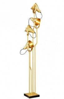 Casa Padrino Luxus Stehleuchte Messing - Luxus Leuchte
