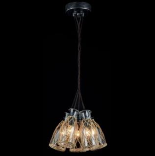 Casa Padrino Barock Decken Kronleuchter Schwarz 32 x H 127 cm Antik Stil - Möbel Lüster Leuchter Deckenleuchte Hängelampe