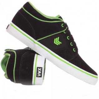 Vox Skateboard Schuhe Davit Gravette Black/White/Green