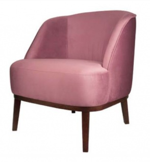 Casa Padrino Luxus Lounge Sessel Rosa / Braun 66 x 66 x H. 70 cm - Luxus Kollektion