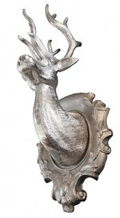 Casa Padrino Designer Geweih Aluminium - Alu Dekoration Wandgeweih Wandfigur Wanddekoration