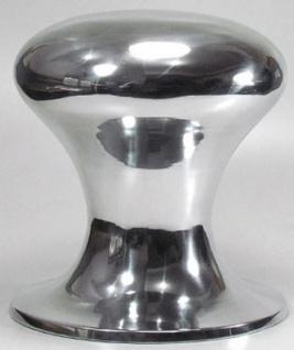Casa Padrino Designer Poller Hocker Silber Ø 38 x H. 42 cm - Runder Aluminium Sitzhocker - Designer Möbel