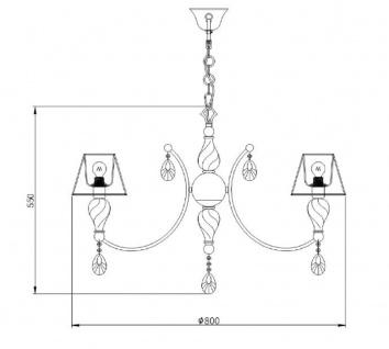Casa Padrino Barock Kristall Kronleuchter Antik Bronze / Champagnerfarben / Grau Ø 80 x H. 55 cm - Prunkvoller Kronleuchter im Barockstil - Vorschau 3