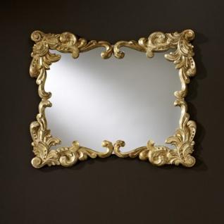 Casa Padrino Barock Wandspiegel Antik Stil Gold 92 x 110 cm - Barocker Spiegel - Vorschau 3