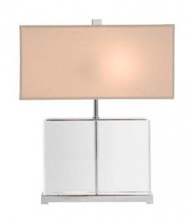 Casa Padrino Luxus Tischleuchte Nickel Durchmesser 28 x 37 x H 44 cm - Luxus Leuchte