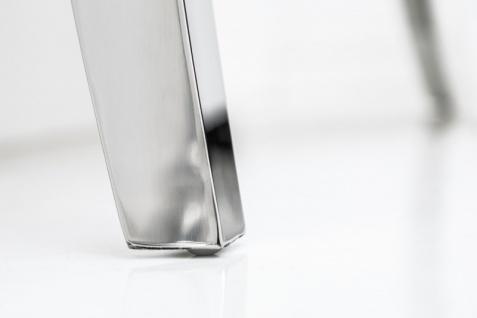 Casa Padrino Designer Esstisch mit Marmor 200 cm Weiss / Grau - Modern Barock - Vorschau 3