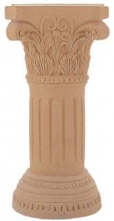Casa Padrino Barock Säule Terracotta 44 x 44 x H. 105 cm - Handgefertigte Keramik Deko Säule - Barock Garten Terrassen Deko