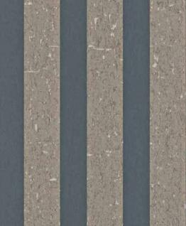 Casa Padrino Barock Vliestapete mit Streifen Grau / Braun 10, 05 x 0, 53 m - Deko Accessoires