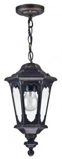 Casa Padrino Barockstil Außenhängeleuchte Antik Bronze Ø 18, 8 x H. 35, 6 cm - Barock Hängelampe