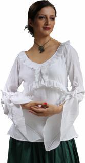 Sybbyl Piraten Mittelalter Bluse - White
