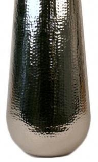 Casa Padrino Aluminium Vase Silber Ø 30 x H. 80 cm - Luxus Deko Vase - Vorschau 3