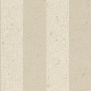 Casa Padrino Barock Vliestapete Creme 10, 05 x 0, 53 m - Tapete mit Streifen - Deko Accessoires