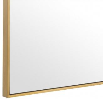 Casa Padrino Luxus Spiegel / Wandspiegel Messingfarben 180 x H. 140 cm - Garderobenspiegel - Wohnzimmer Spiegel - Luxus Qualität - Vorschau 4