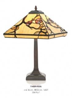 Handgefertigte Tiffany Hockerleuchte Tischleuchte Höhe 52 cm, Länge 36 cm - Leuchte Lampe