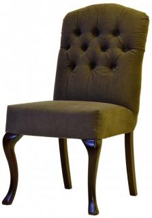 Casa Padrino Designer Esszimmer Stuhl ModEF 197 Braun / Braun - Hotel Möbiliar - Buchen Holz - Europäische Herstellung - Vorschau 1