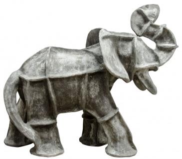 Casa Padrino Luxus Skulptur Elefant Zementgrau 180 x 90 x H. 130 cm - Limited Edition