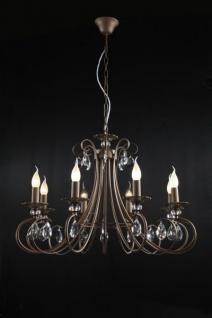 Casa Padrino Barock Kristall Decken Kronleuchter Braun 77 x H 54 cm Antik Stil - Möbel Lüster Leuchter Hängeleuchte Hängelampe
