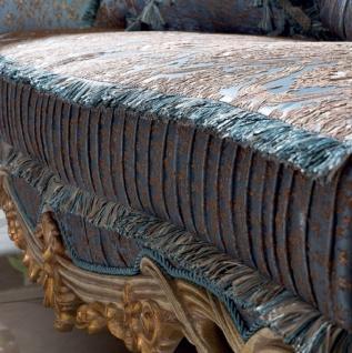 Casa Padrino Luxus Barock Wohnzimmer Set Blau / Kupfer / Silber / Braun / Gold - 2 Sofas & 2 Sessel & 1 Couchtisch - Handgefertigte Wohnzimmer Möbel im Barockstil - Edel & Prunkvoll - Vorschau 3