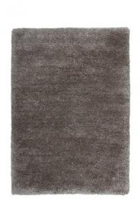 Casa Padrino Designer Teppich Unicolor Tufted Soft Polyester Silber Grau - Möbel Teppich