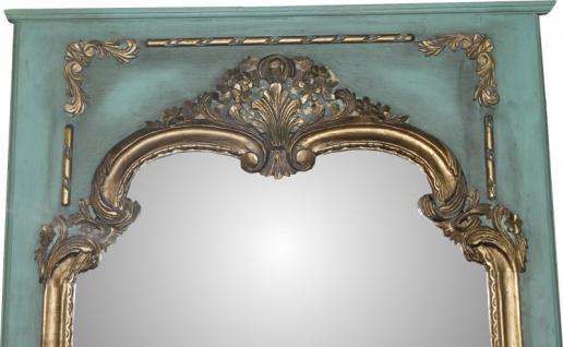 Casa Padrino Barock Wandspiegel in Petrolgrün/Gold B 105 cm, H 192 cm, Antik Look - Edel & Prunkvoll - Vorschau 2