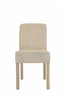 Casa Padrino Designer Esszimmer Stuhl ModEF 35 Beige Leder - Hotelmöbel - Holz Buche - Vorschau 3