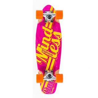 Mindless Stained Daily Oldschool Skateboard Wood Cruiser Komplettboard Pink / Yellow - Old School Complete Skateboard mit Koston Kugellagern