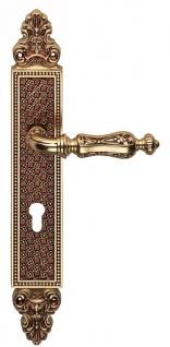 Casa Padrino Barock Türgriff Set Französisches Gold 15, 5 x H. 37 cm - Messing Türklinken