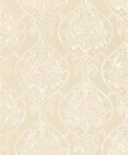Casa Padrino Barock Wohnzimmer Tapete Creme 10, 05 x 0, 53 m - Hochwertige Textiltapete im Barockstil