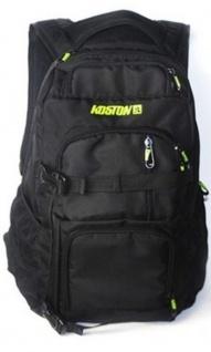 Koston Profi Skateboard Rucksack Schwarz - Backpack mit Boardcatcher und vielen Fächern